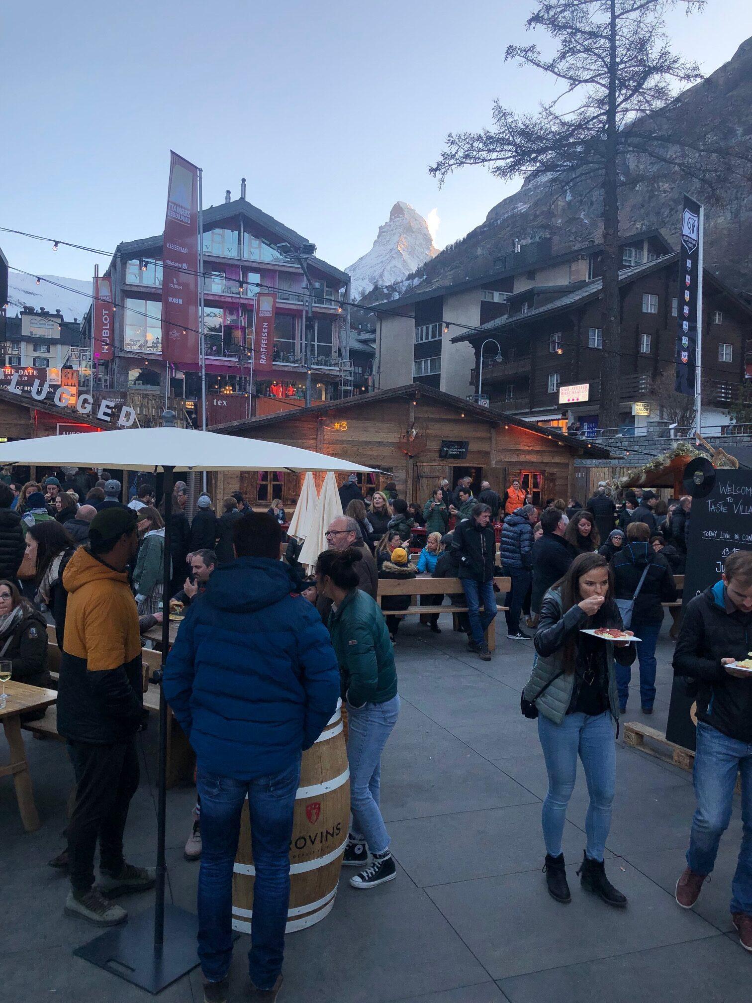 Zermatt unplugged Taste Village