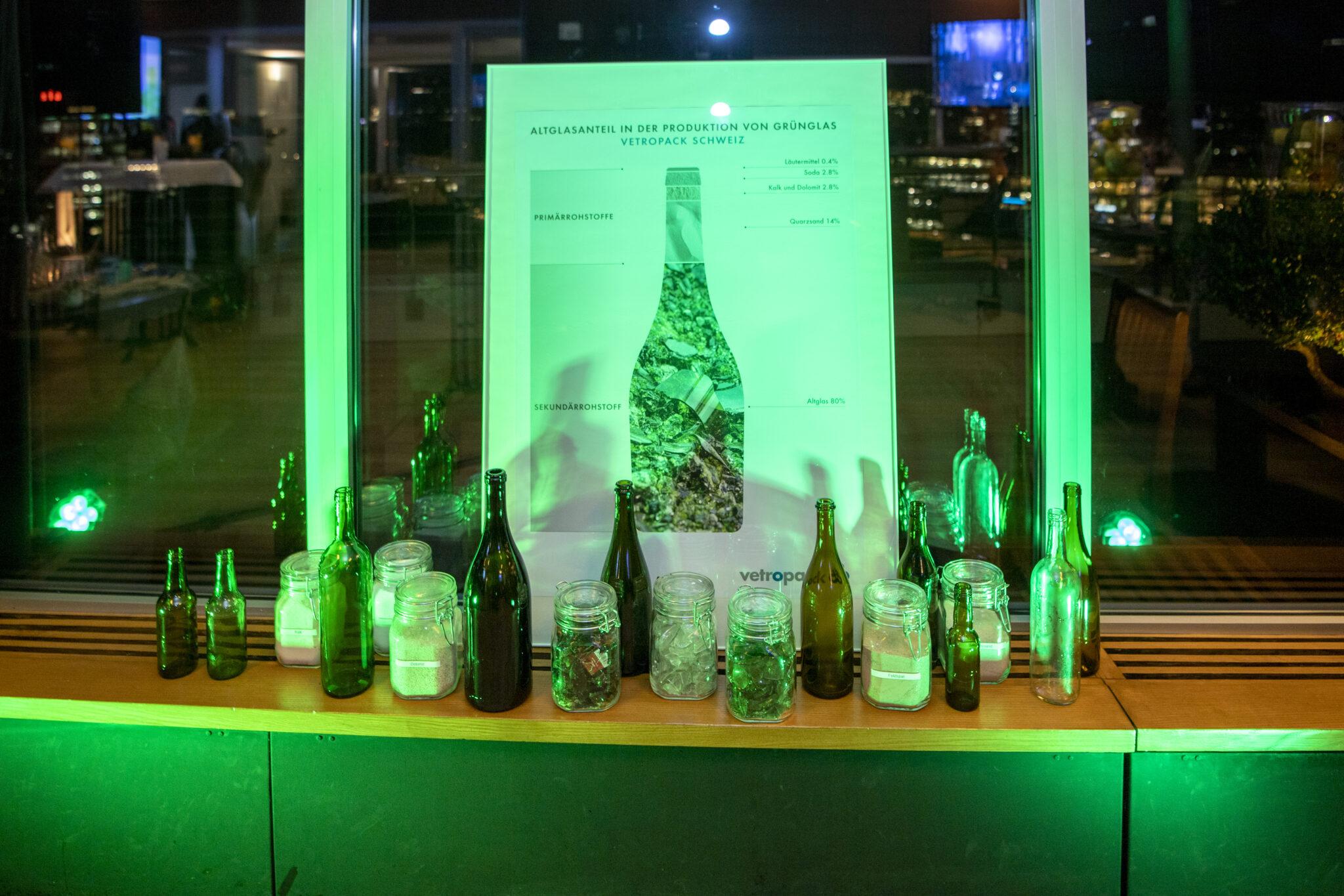 Friends of Glass Event Glas ist umweltfreundlich