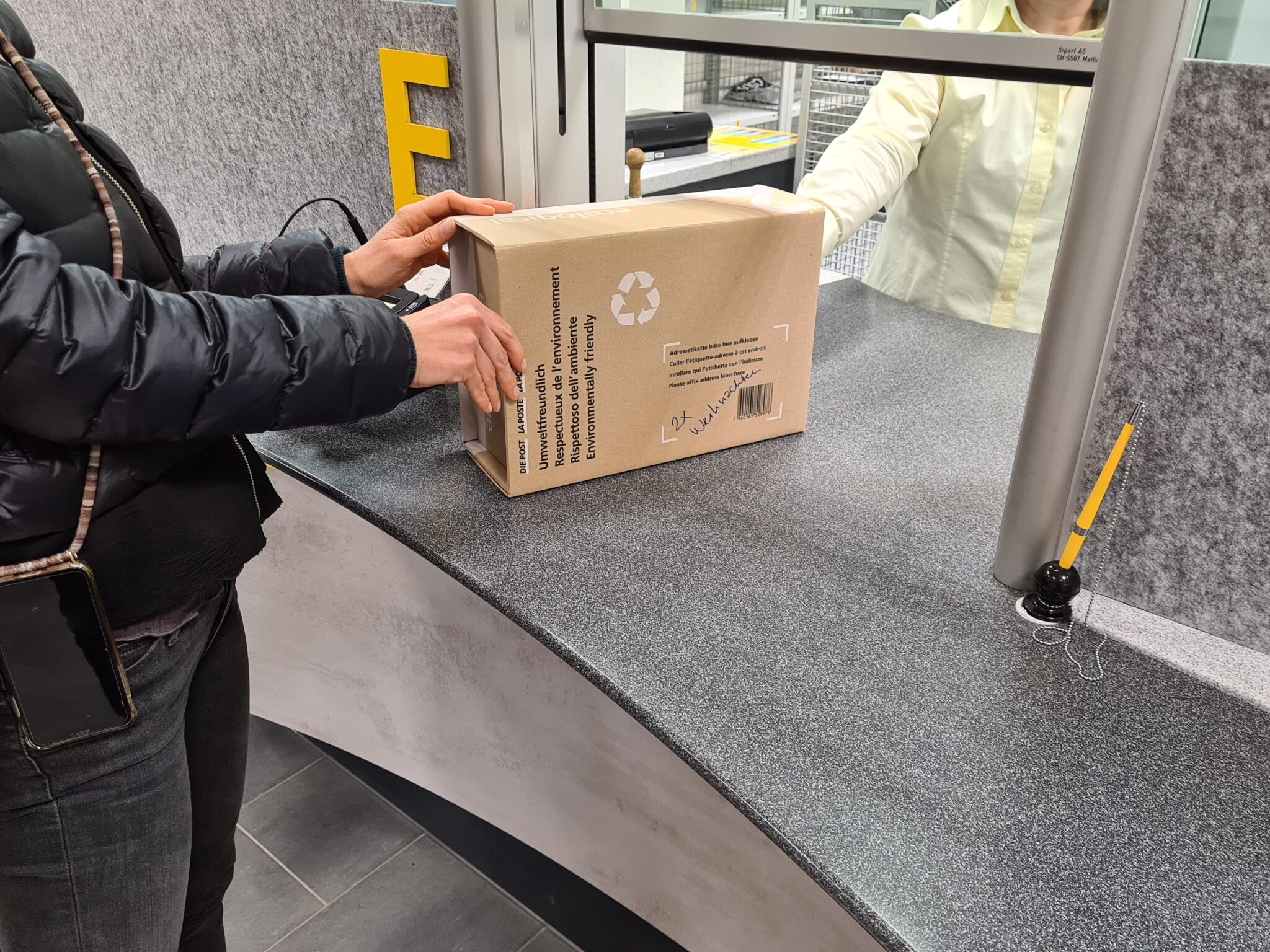 2x Weihnachten Päckli Aufgabe Postschalter