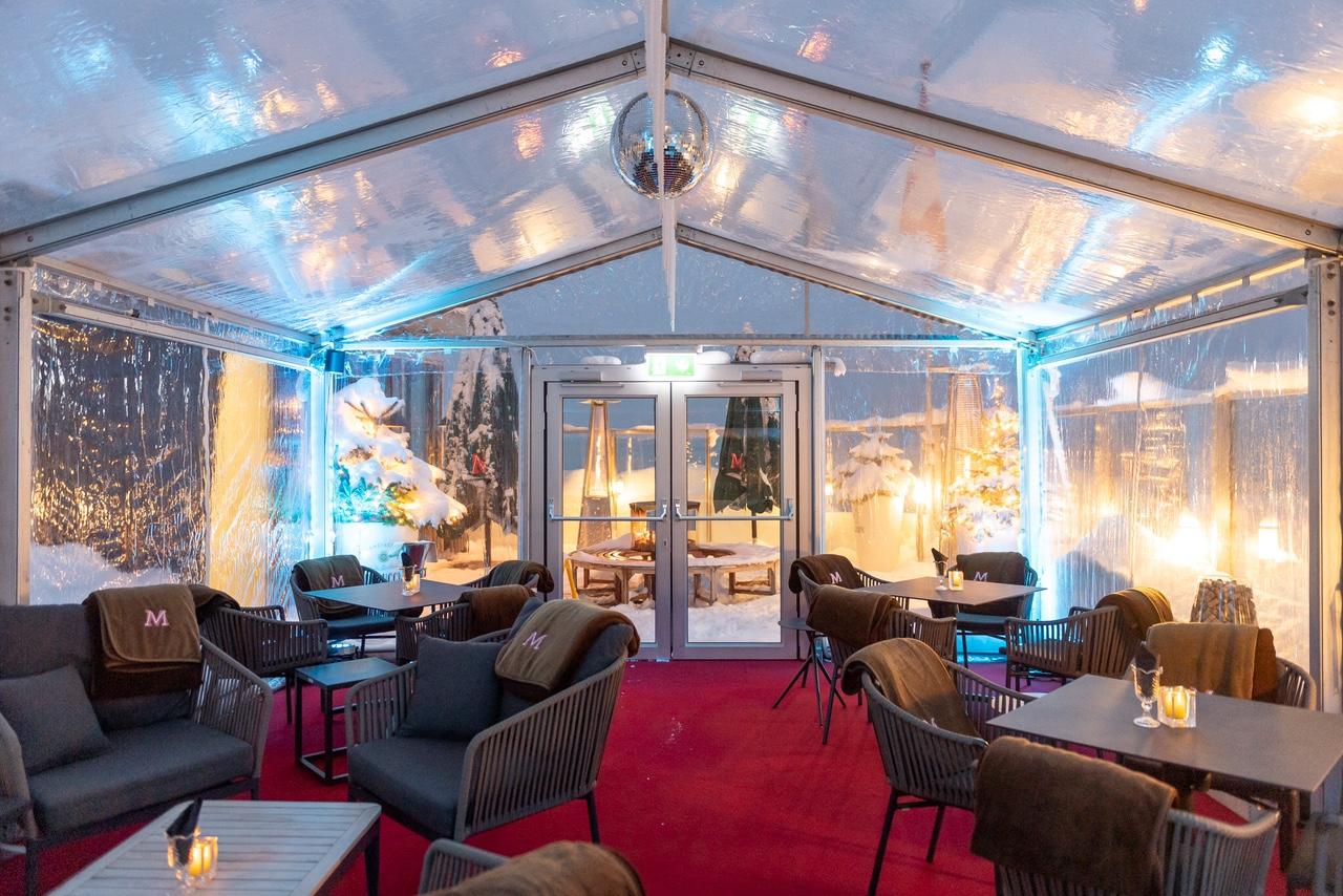 Art Boutique Hotel Monopol Skybar draussen Zelt